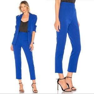 NWT Milly High Waisted Stretch Crepe Pants Cobalt